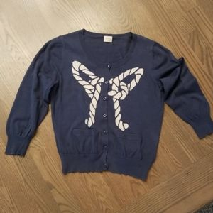 Gorman Blue Fine knit button down cardigan